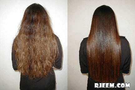 خلطات وطرق مجربة ومميزة لفرد الشعر المنكوش المجعد وتنعيمه 13456772651.jpg