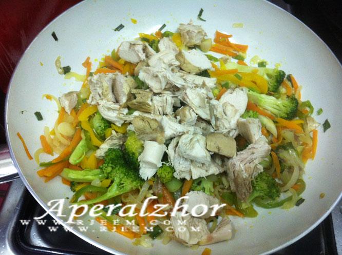بروكلى  سوتيه مع الخضروات المشكلة من مطبخى 13853225625.jpg