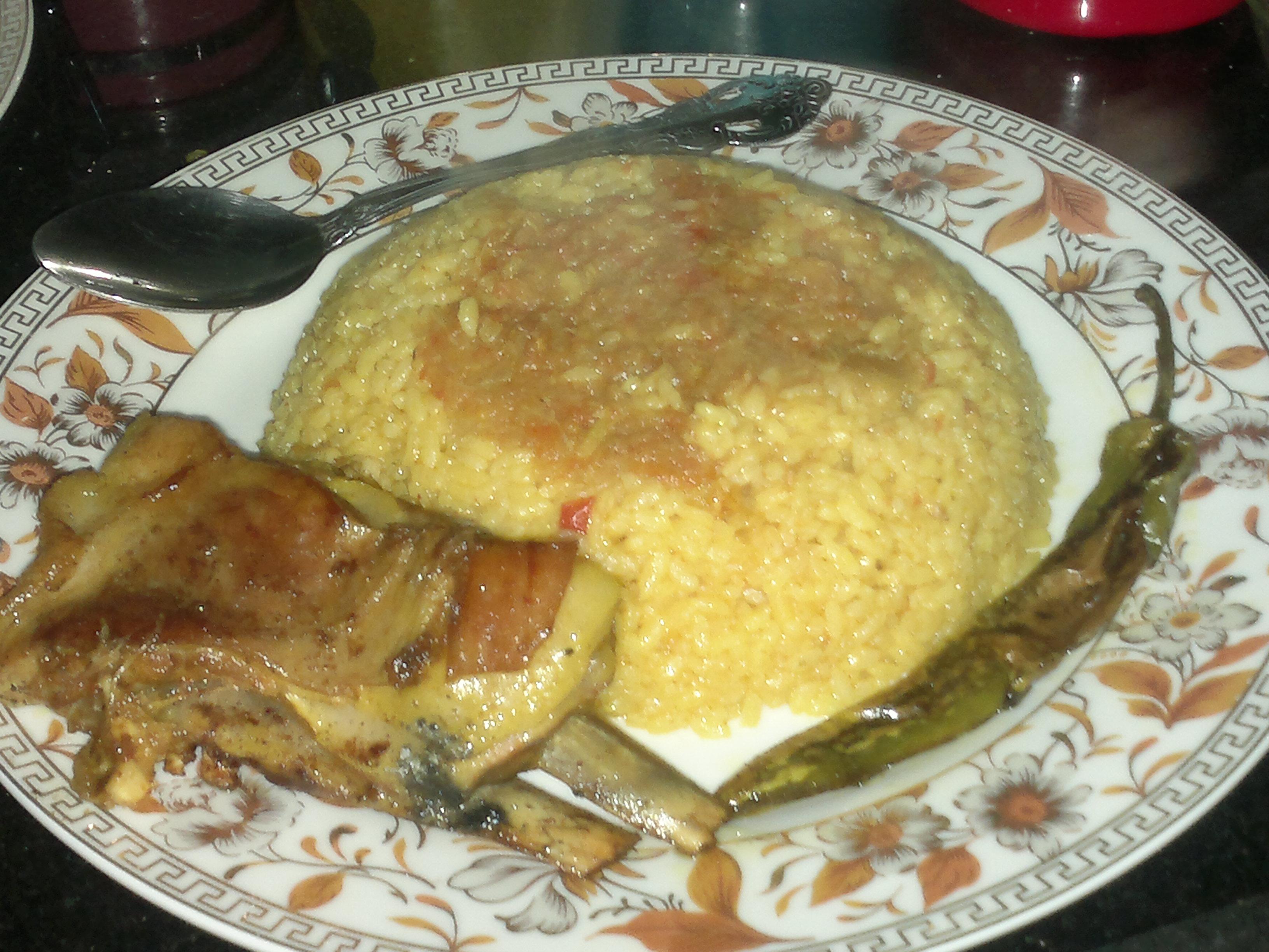 الأرز الأصفر واللحم المشوي من مطبخي 13956948091.jpg